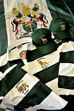Traditional Green and White Rugby select your own emblem (COPY)