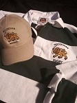 Traditional Green and White Rugby bonus hat, arm flag