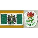 Rhodesian Flag and Flame Lily Patch Combo